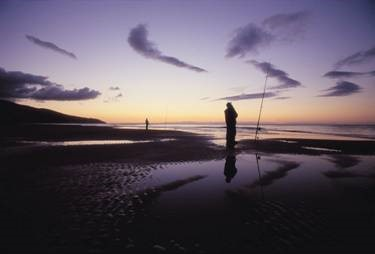 Fishing in Raglan, New Zealand