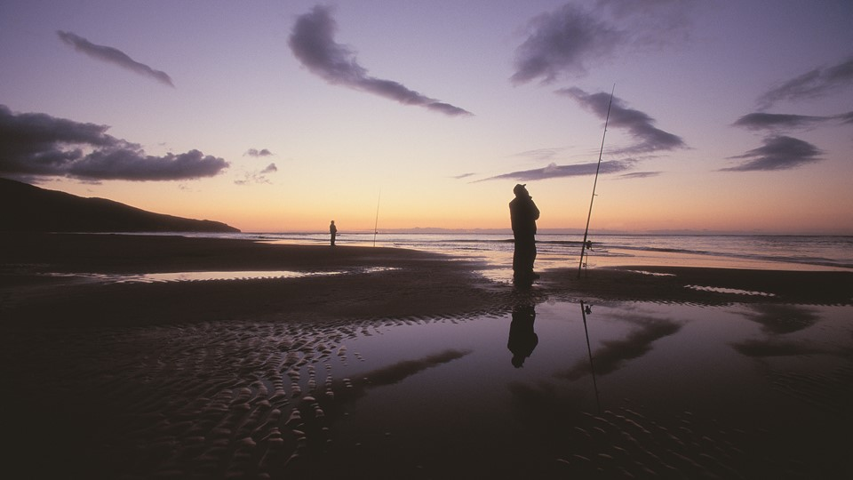 Fishing at Raglan, Raglan, NZ