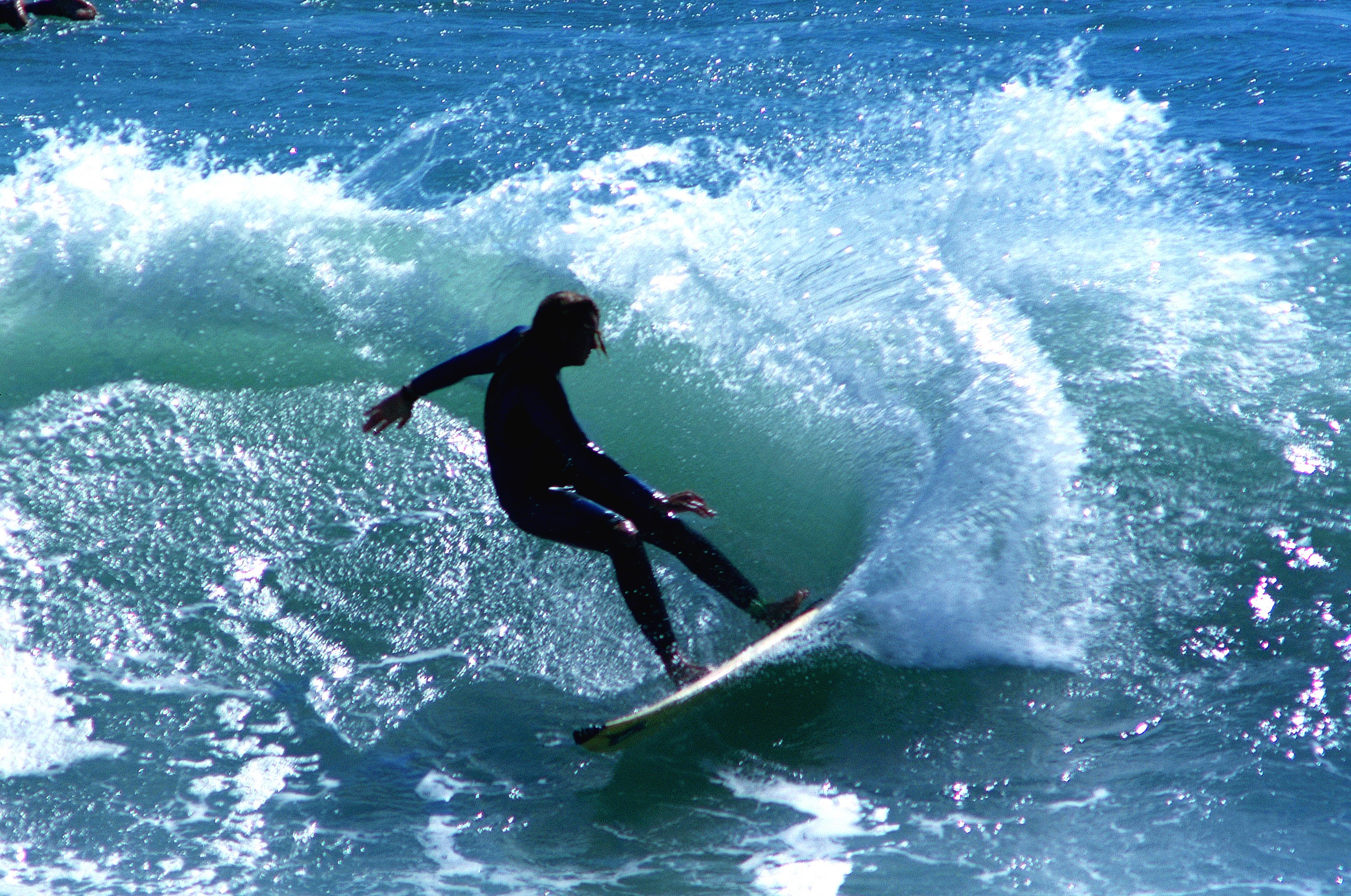 Surfing in Raglan, Raglan, NZ