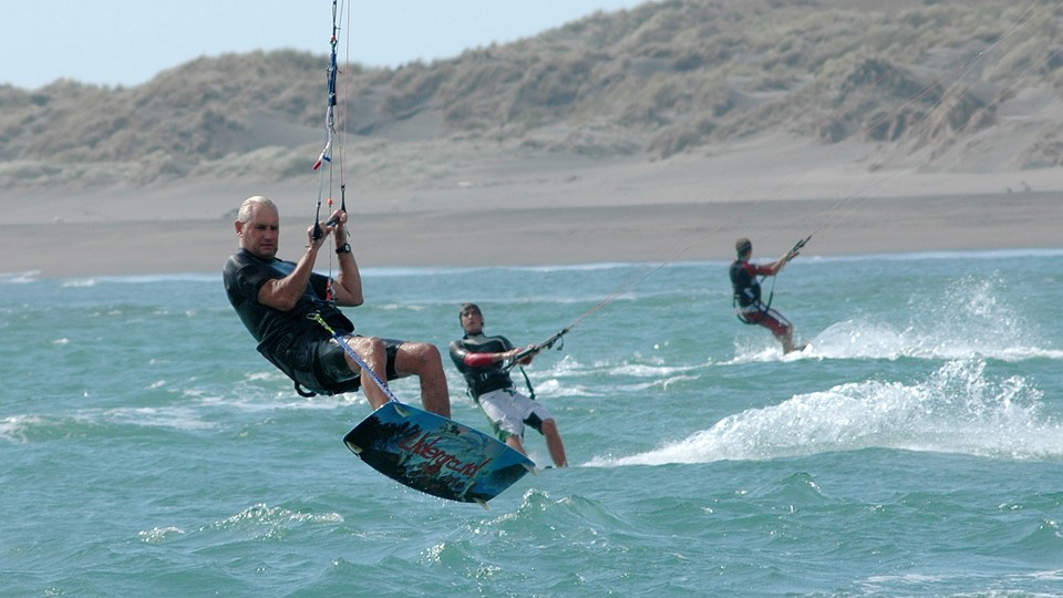Windsurfing, Raglan, New Zealand