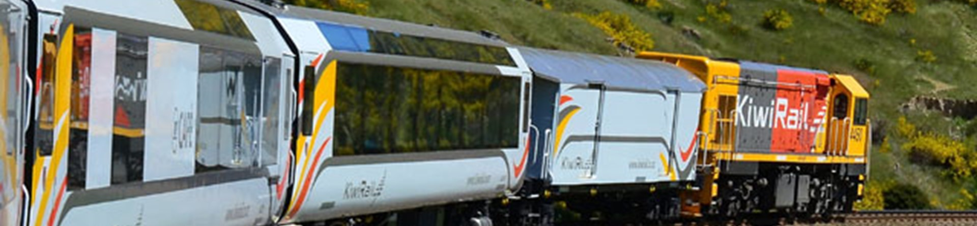 Kiwirail train, New Zealand