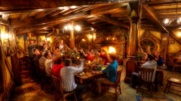 Hobbiton Movie Set, Green Dragon Inn, Matamata, NZ