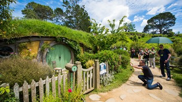 The Shire, Hobbiton Movie Set, Matamata, NZ