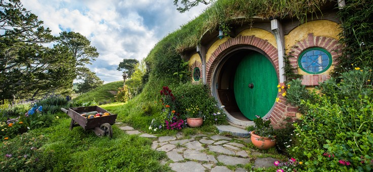 Bag End, Hobbiton Movie Set, Matamata, NZ