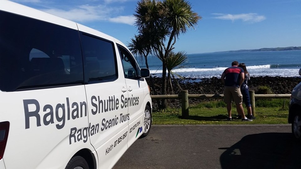 Raglan Shuttle Service, Raglan Transport, NZ