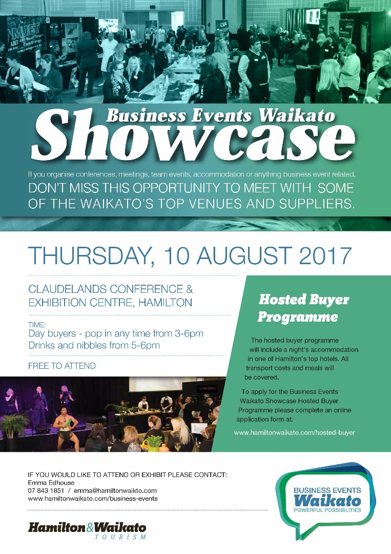 Business Events Waikato Showcase 2017