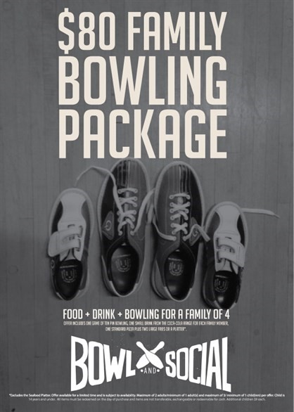 Skycity Hamilton Bowl & Social Family Package