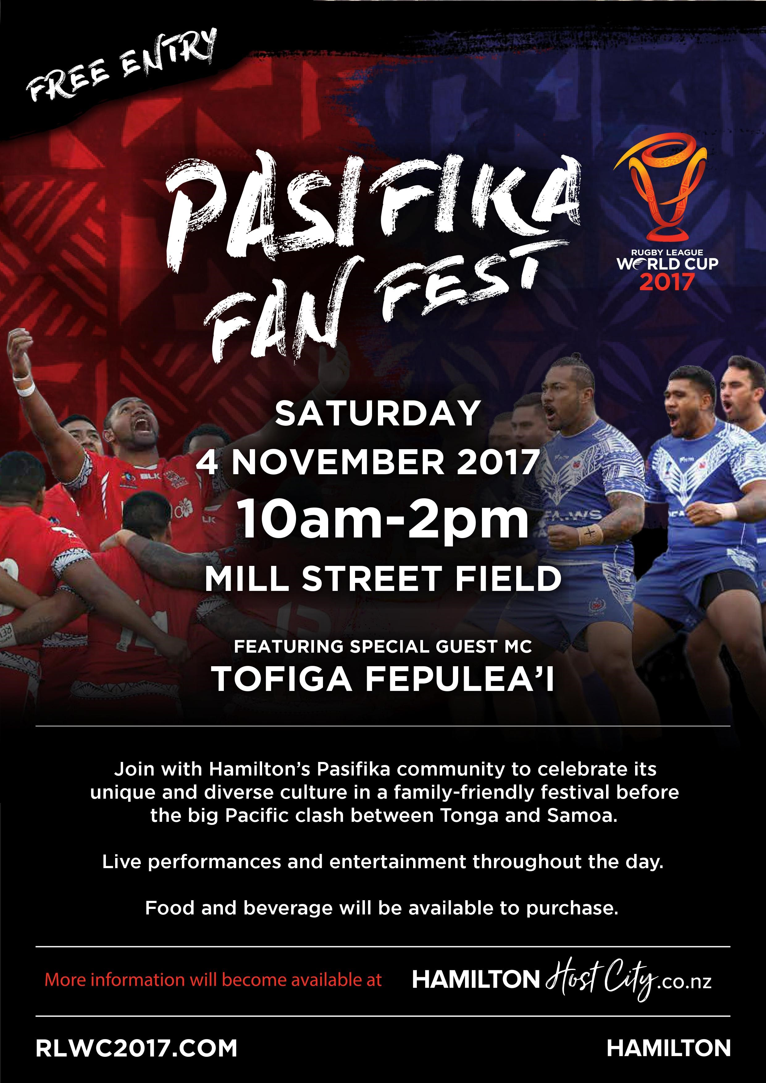 Rugby League World Cup Pasifika Fan Fest Hamilton NZ