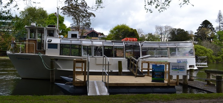 Waikato River Explorer New group boat charters in the city