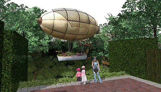 New Zealand's only floating steampunk airship lands at Hamilton Gardens