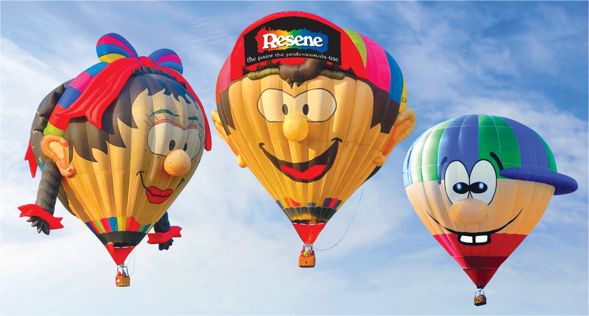 Balloons Over Waikato Special Shapes 2018: Resene 'Colour Fun for Everyone' Family