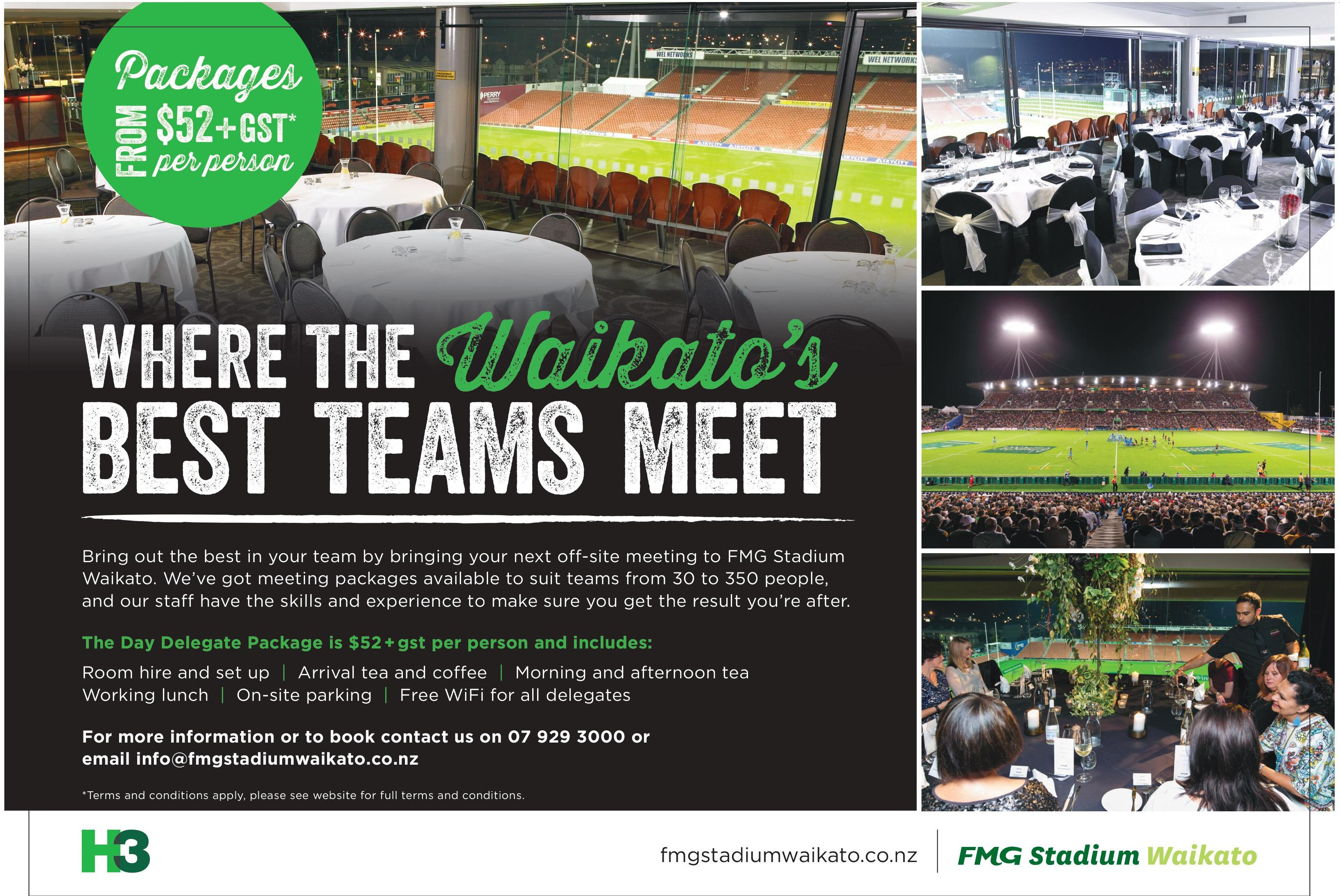 New meeting packages launched at FMG Stadium Waikato