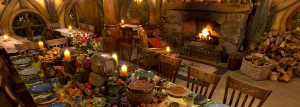 Feast at the Green Dragon, Hobbiton Movie Set, Matamata, Waikato
