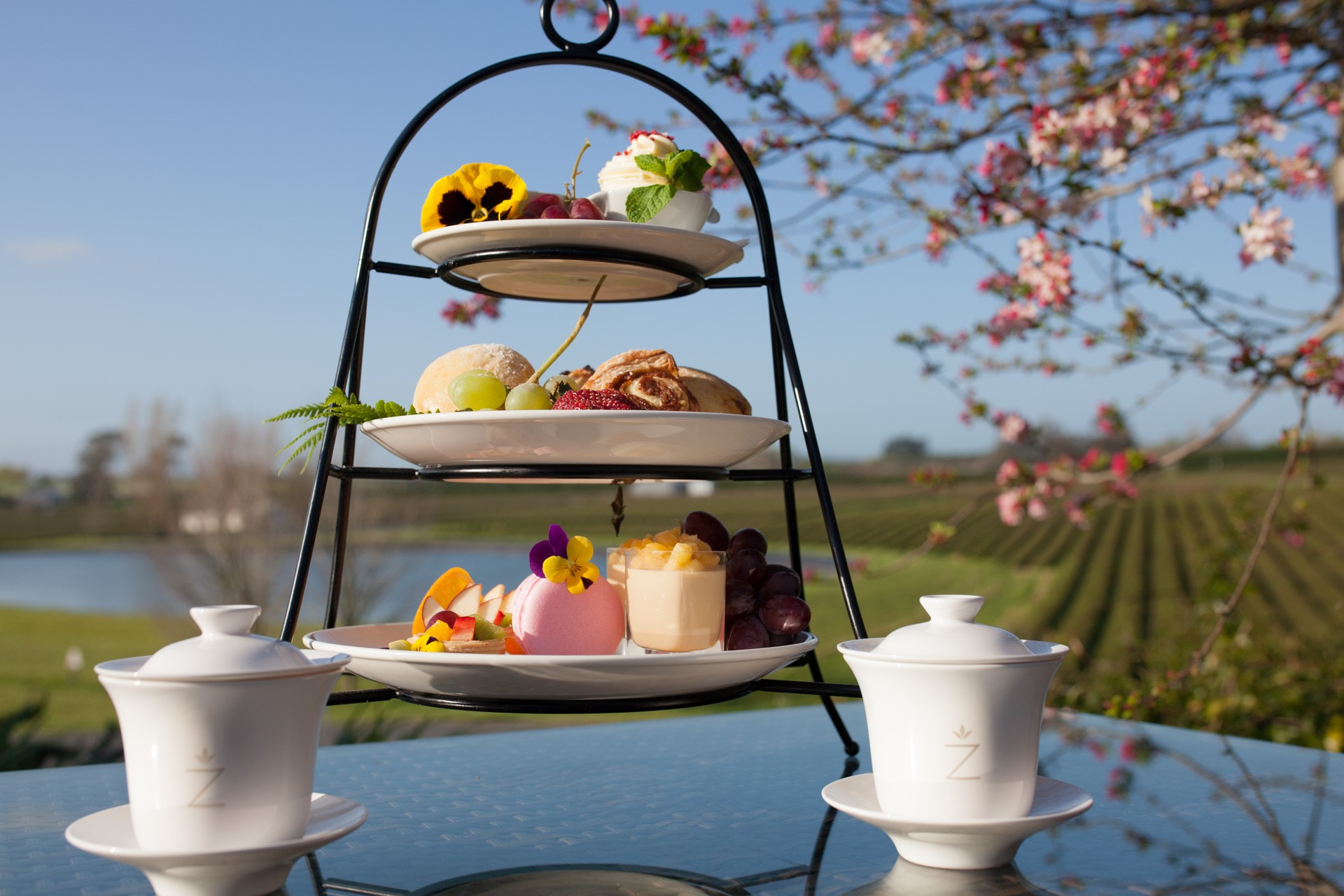 High Tea at Zealong Tea Estate, Waikato, NZ