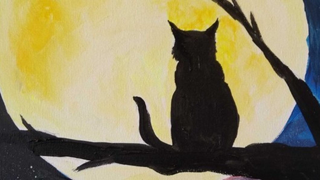 Paint and Wine - Cat and the Moon - Paintvine, Food, Gourmet, Wine, Good Neighbour, Hamilton, Waikato