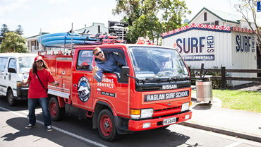 Jump in our surf truck and off to the beach !