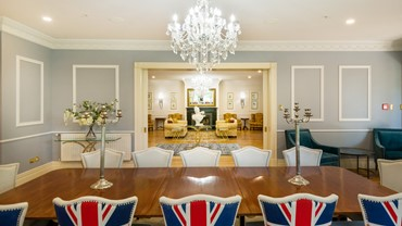 The Dining Room at Henley Hotel - a touch of British quirkiness in the decor.