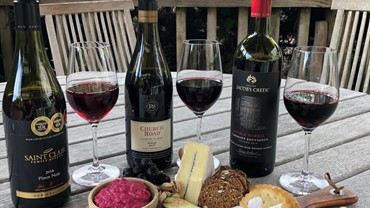 New Zealand wine and cheese with views