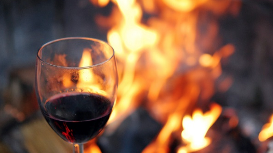 Beachside fires with wine