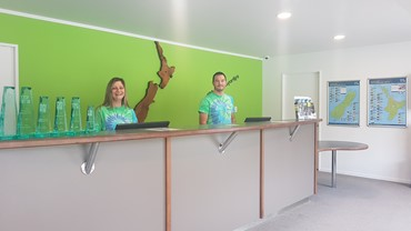 Friendly staff waiting to welcome you to our bright and airy Reception