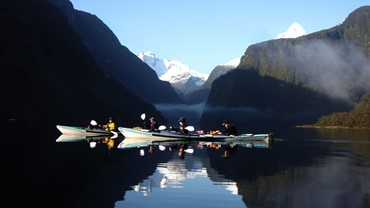 Kayaking in Doubtful Sound - Fiordland National Park