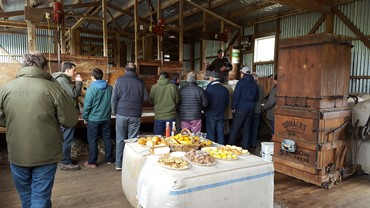 Lunch in the woolshed