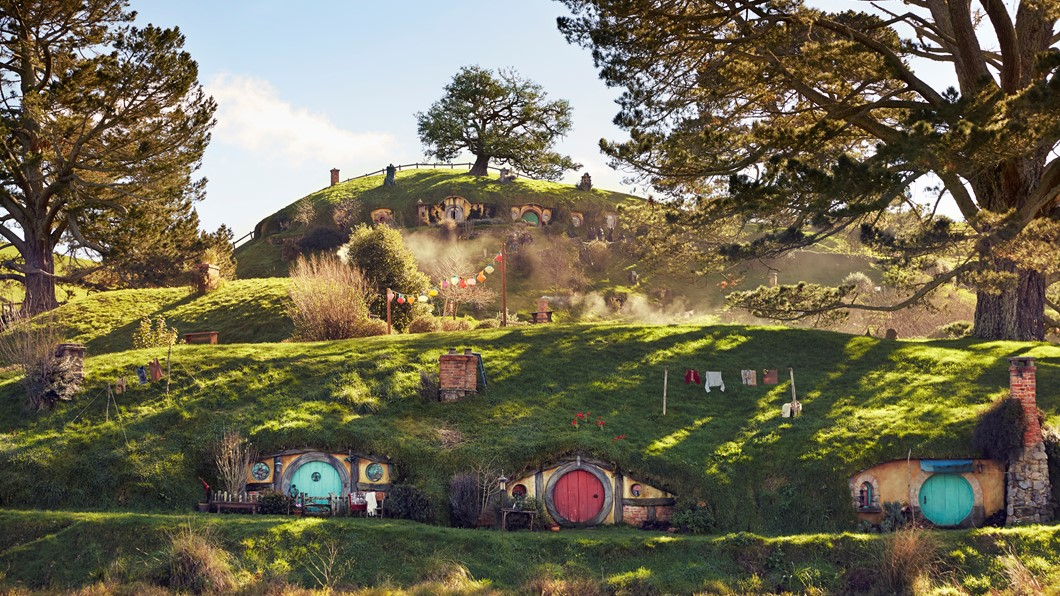 This isn't fantasy, it's Hobbiton - just as it was created for Peter Jackson's movies.