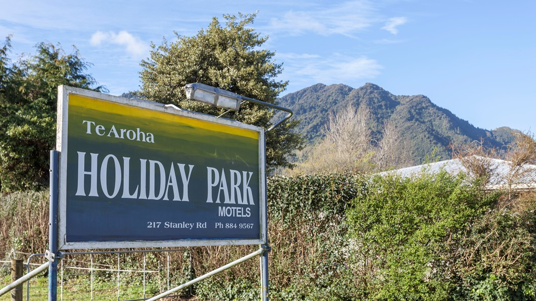 Holiday Park on the foot of Mount Te Aroha