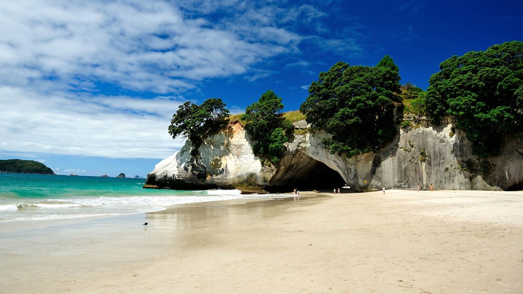 Cathedral Cove - located on the Coromandel Tour