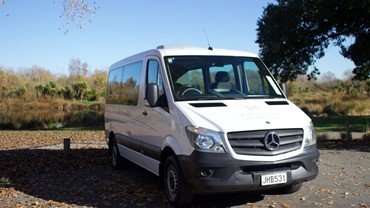 Mercedes-Benz 12 Seat Sprinter Van from $149 per day.