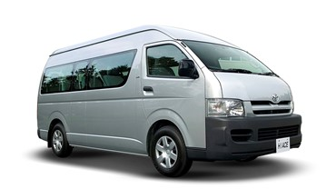Toyota Hiace 12 Seat Van from $114 per day.