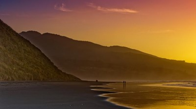 Sunsets on Ngaranui Beach, the views by day and night along this untouched coastline are truly stunning.