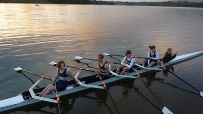 Rowers from the under 21 Squad and Cambridge High